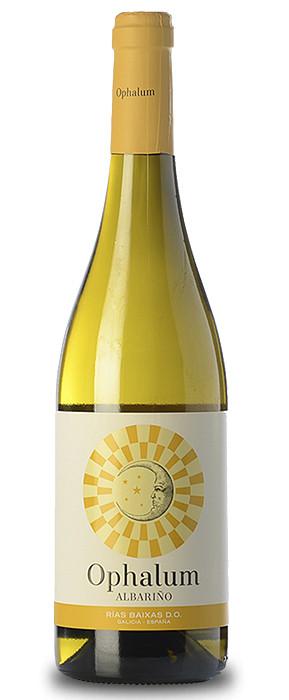 Botella del vino blanco Ophalum 2020