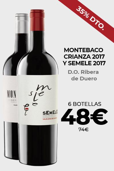 Montebaco Crianza 2017 y Semele 2017